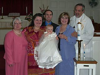 Lily + family @ baptism